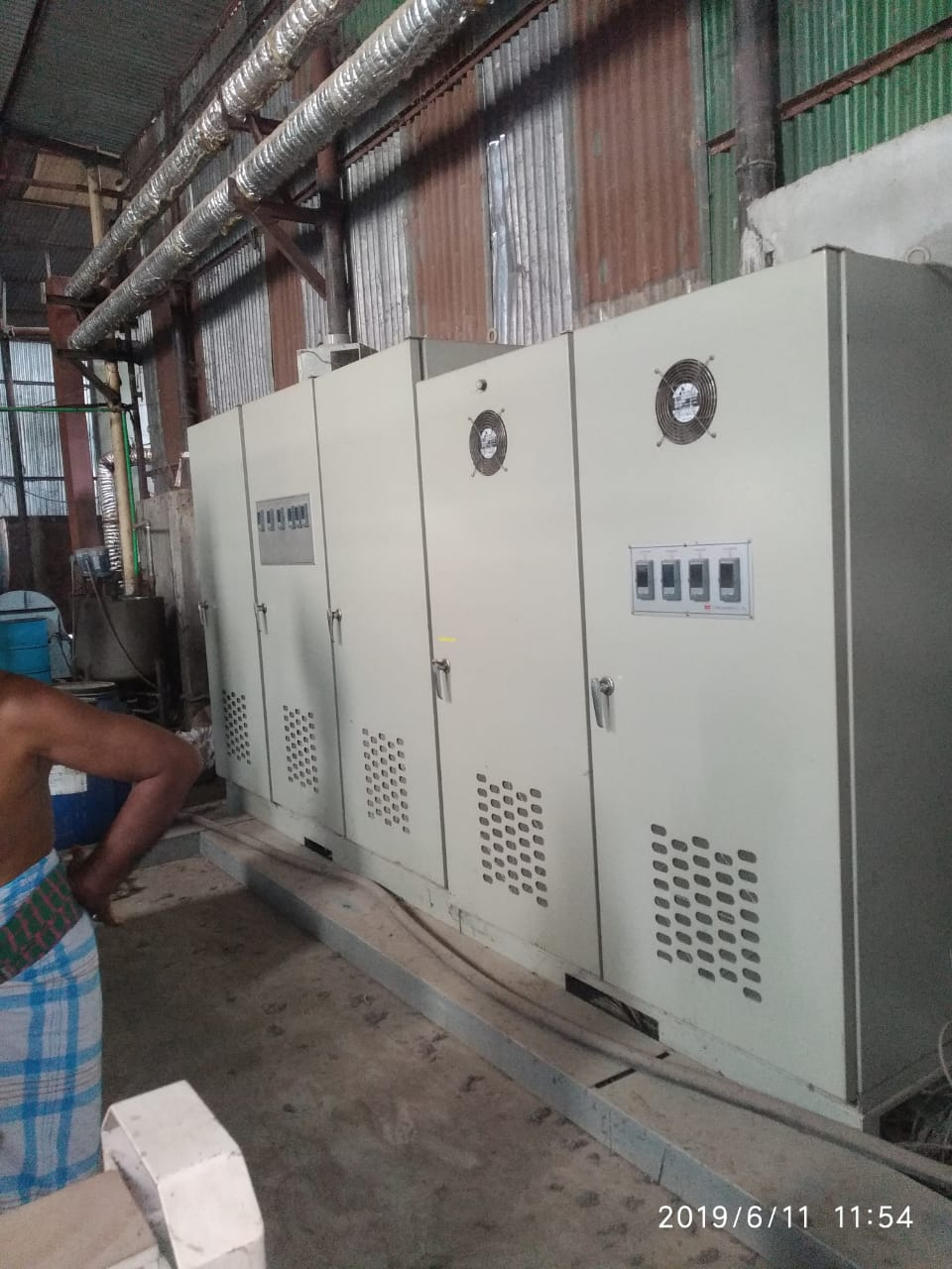 10 Chamber thermo Oil Heating Double Padder IL Sung Branded second hand but  not used Stenter with CNG Vehicle, 2800 mm